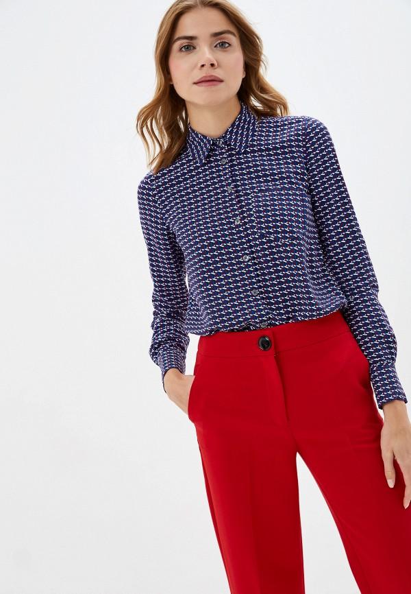 Фото - женскую рубашку Tommy Hilfiger синего цвета