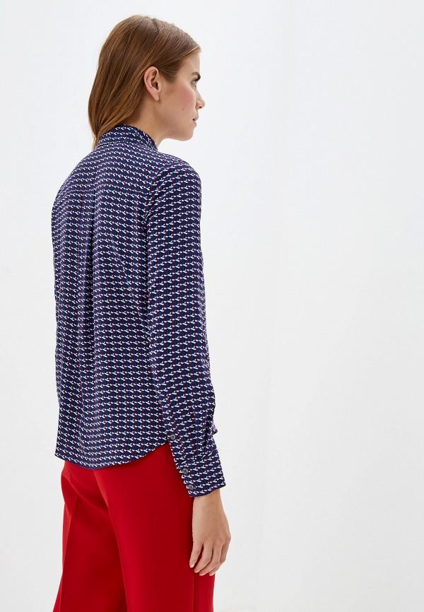 Фото 3 - женскую рубашку Tommy Hilfiger синего цвета