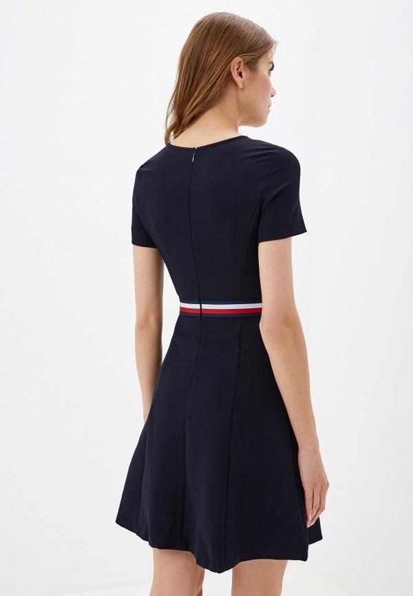 Фото 3 - женское платье Tommy Hilfiger синего цвета