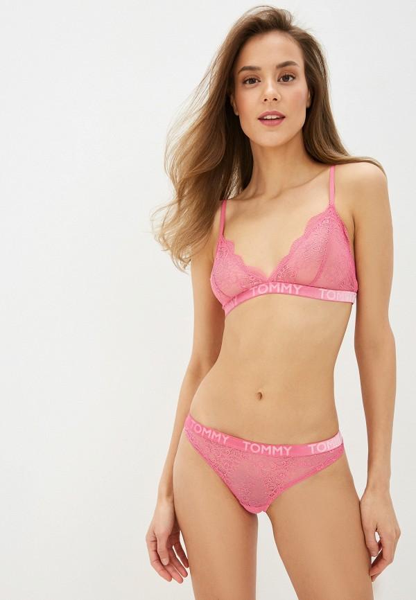 женские трусы-стринги tommy hilfiger, розовые
