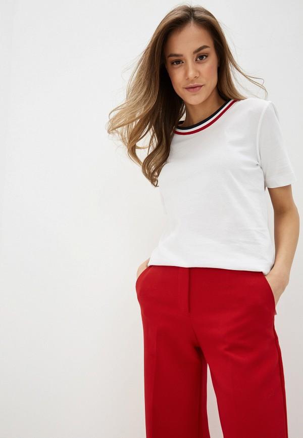 женская футболка tommy hilfiger, белая