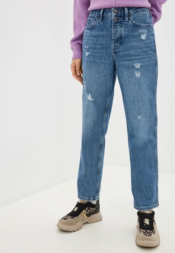 женские джинсы бойфренд tommy hilfiger, голубые