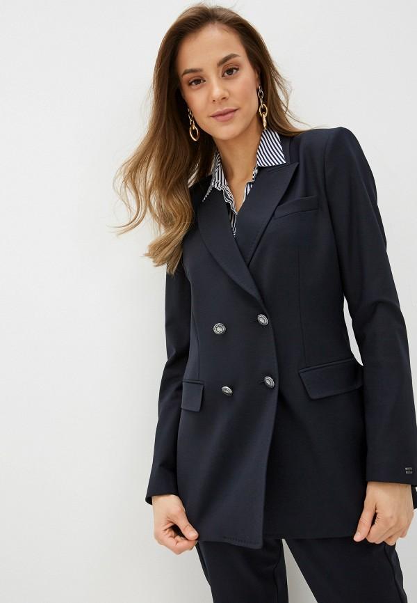 женский пиджак tommy hilfiger, синий