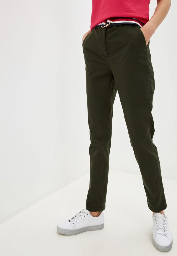 женские повседневные брюки tommy hilfiger, хаки