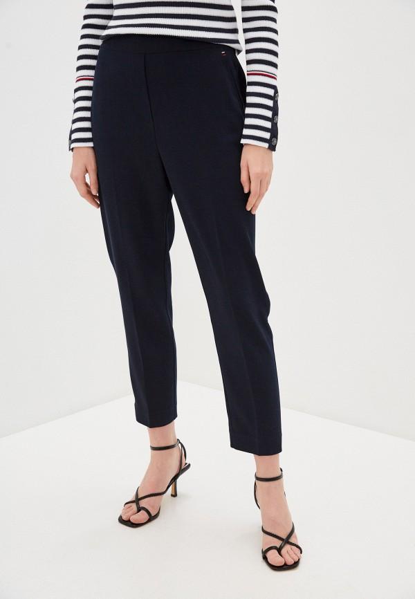 женские повседневные брюки tommy hilfiger, синие