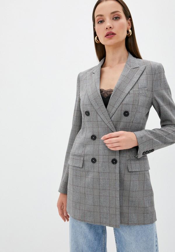 женский пиджак tommy hilfiger, серый