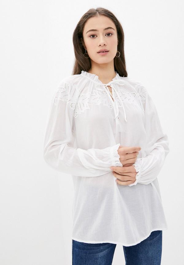 женская блузка с длинным рукавом tommy hilfiger, белая