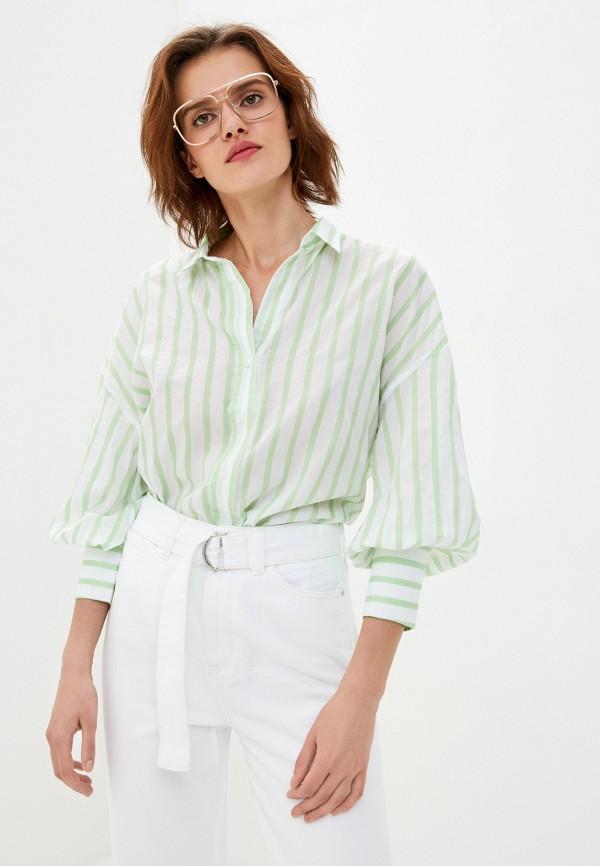 женская рубашка с длинным рукавом tommy hilfiger, зеленая