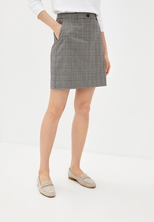 женская прямые юбка tommy hilfiger, серая