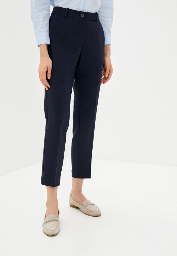 женские классические брюки tommy hilfiger, синие