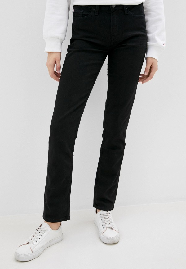 женские джинсы скинни tommy hilfiger, черные