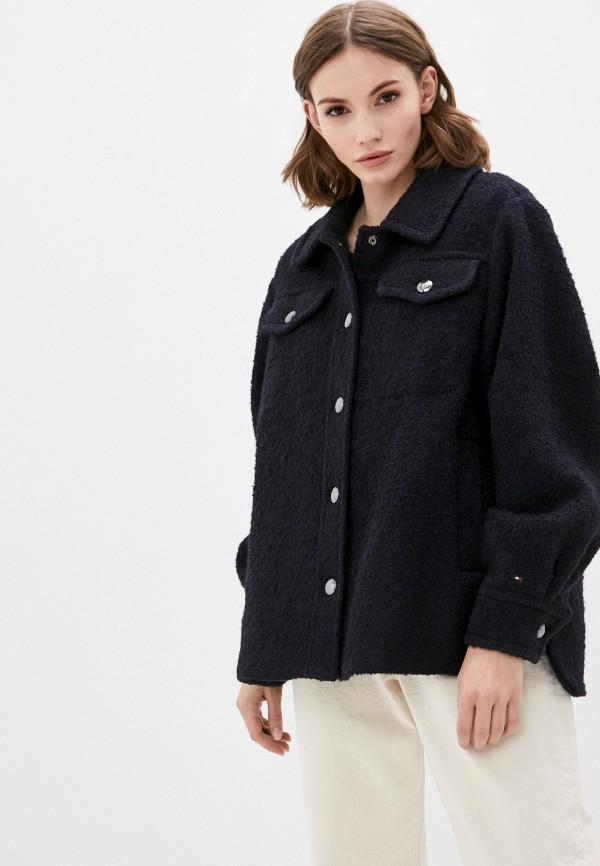 женская куртка tommy hilfiger, синяя