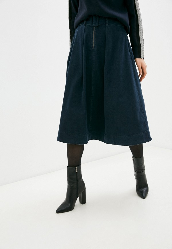 женская джинсовые юбка tommy hilfiger, синяя