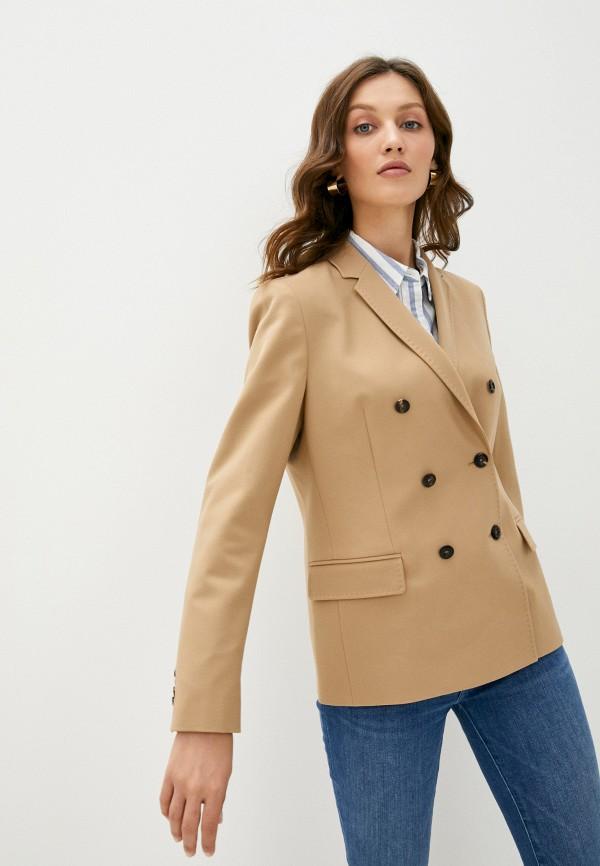 женский пиджак tommy hilfiger, бежевый