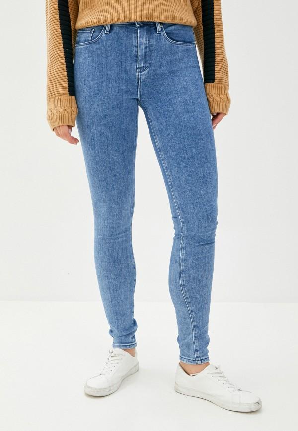 женские джинсы скинни tommy hilfiger, синие