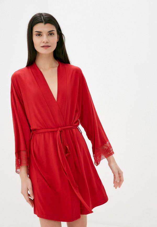 женский халат tommy hilfiger, красный