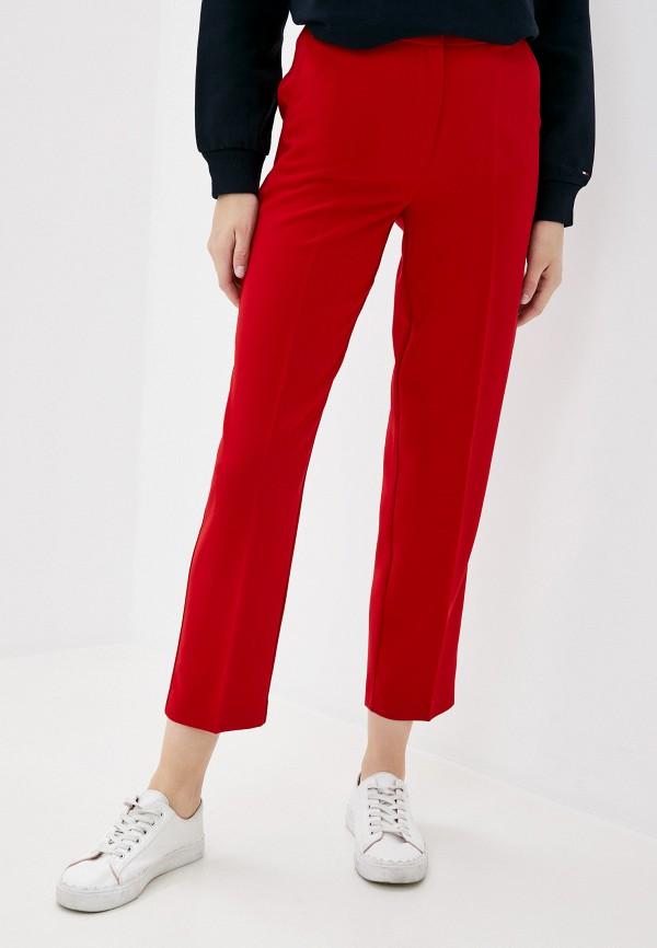 женские классические брюки tommy hilfiger, красные