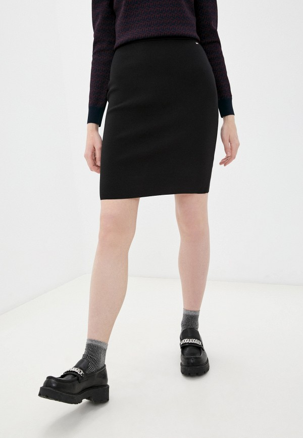 женская узкие юбка tommy hilfiger, черная