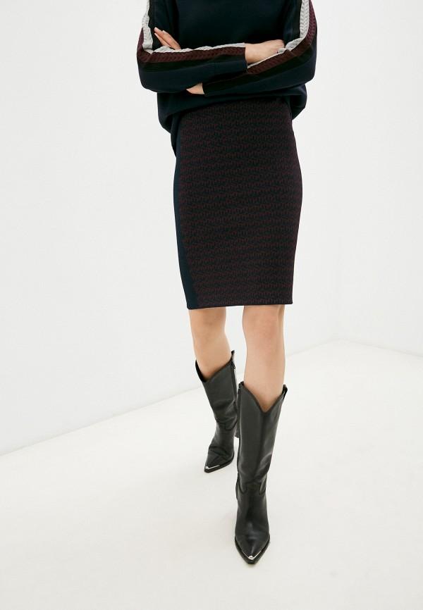 женская узкие юбка tommy hilfiger, синяя
