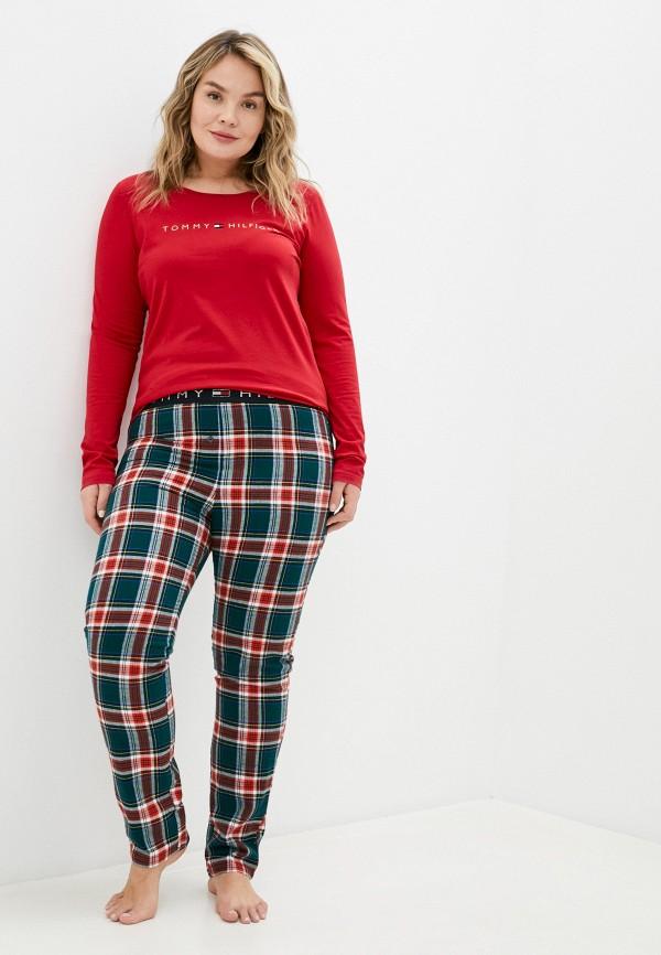 женская пижама tommy hilfiger, красная