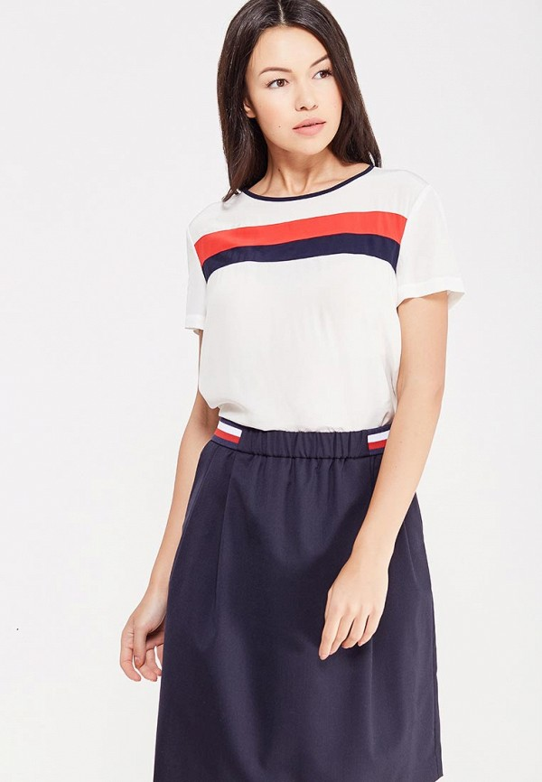 Блуза Tommy Hilfiger Tommy Hilfiger TO263EWUFT15 блуза tommy hilfiger ww0ww16824 116 penny floral prt snow white estate blu