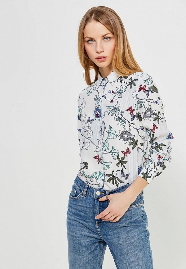 Блуза Tommy Hilfiger Tommy Hilfiger TO263EWZFV93 блуза tommy hilfiger ww0ww16824 116 penny floral prt snow white estate blu