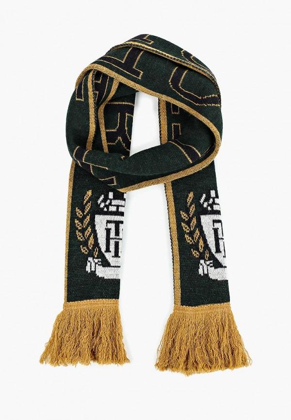 Мужской зеленый итальянский осенний шарф