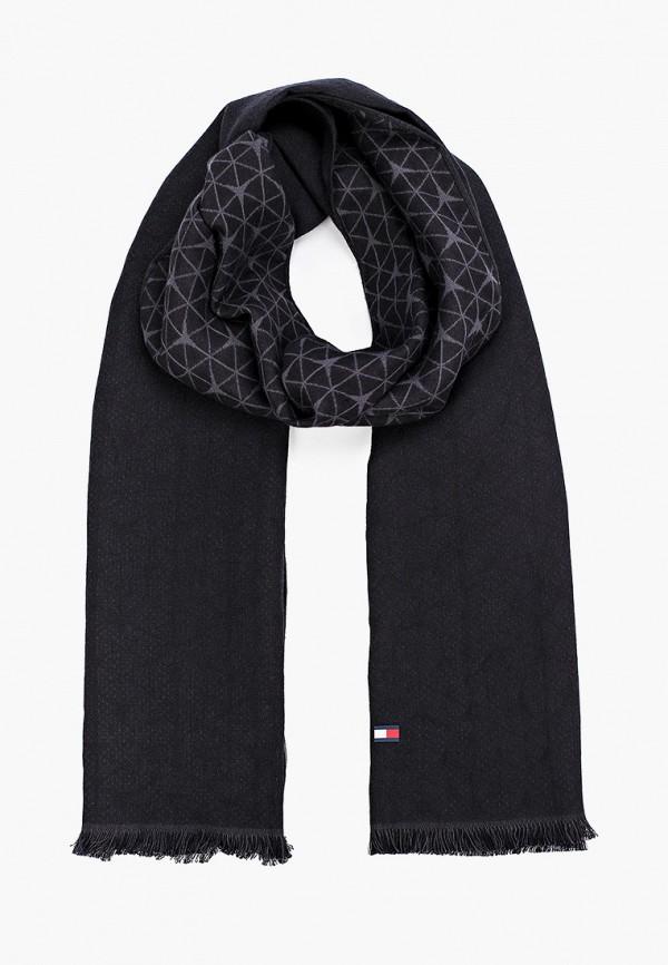 мужской шарф tommy hilfiger, черный
