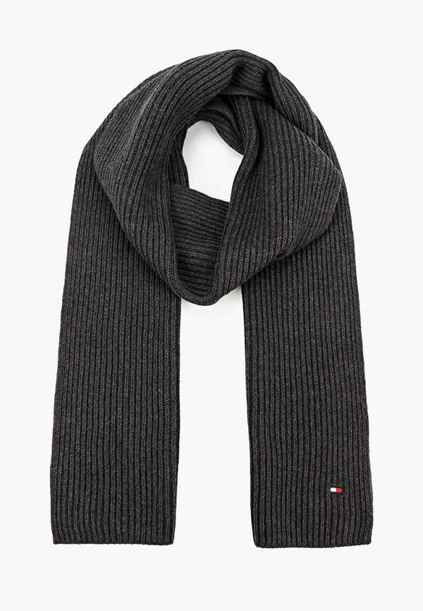 мужской шарф tommy hilfiger, серый