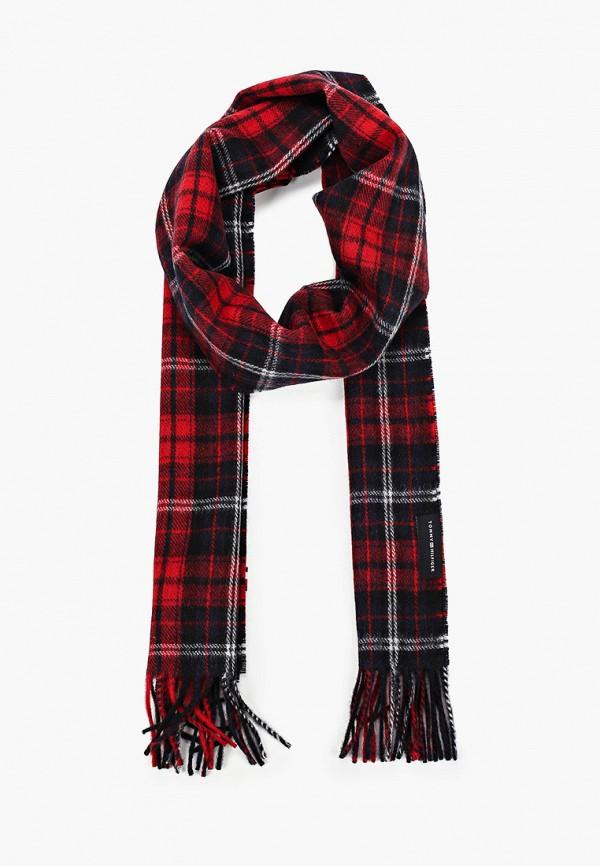 мужской шарф tommy hilfiger, красный