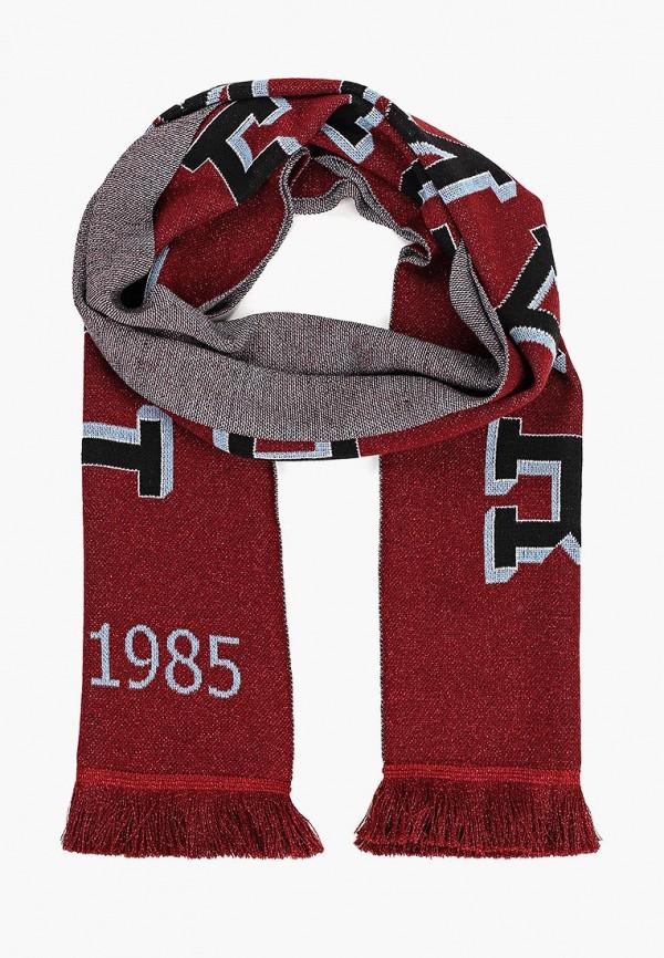 женский шарф tommy hilfiger, бордовый