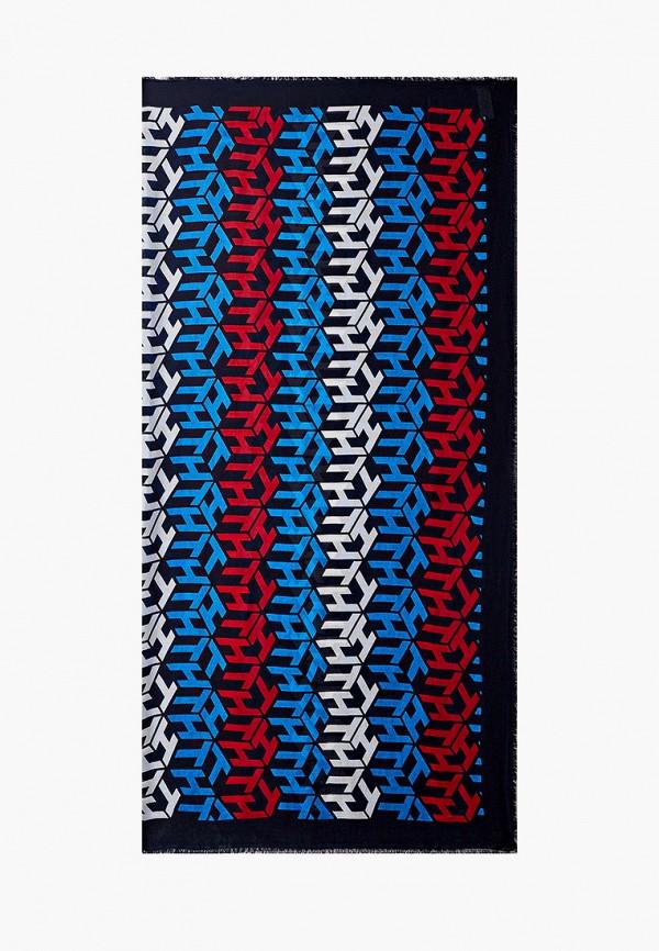 женский платок tommy hilfiger, разноцветный
