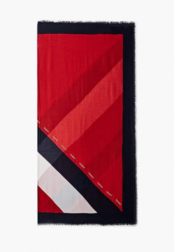 женский платок tommy hilfiger, красный