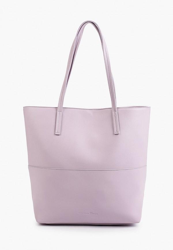 женская сумка-шоперы tom tailor, фиолетовая