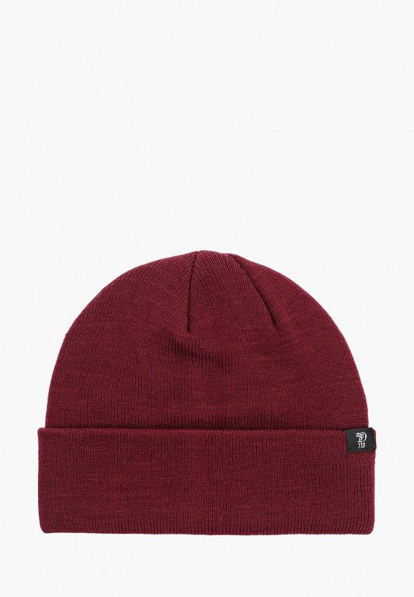 мужская шапка tom tailor, бордовая