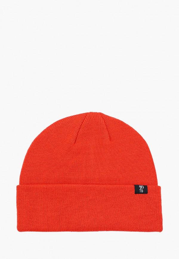 мужская шапка tom tailor, оранжевая