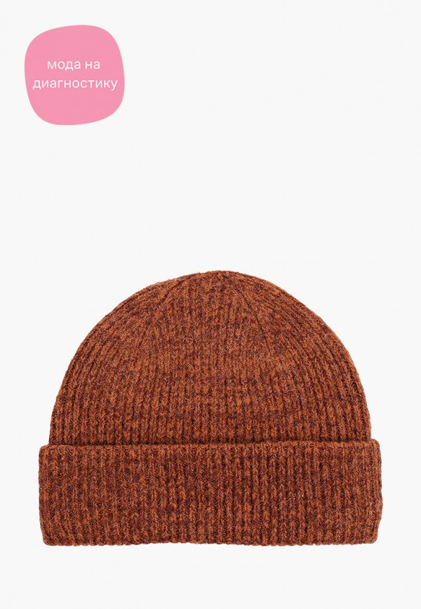 женская шапка tom tailor, коричневая