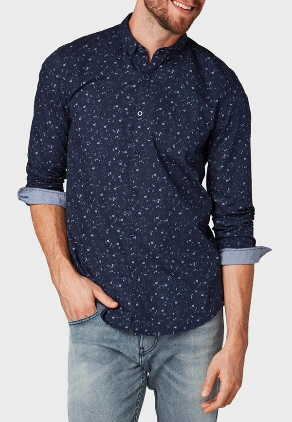 Рубашка Tom Tailor Denim Tom Tailor Denim TO793EMBXDQ1 raw hem ripped button front denim overalls