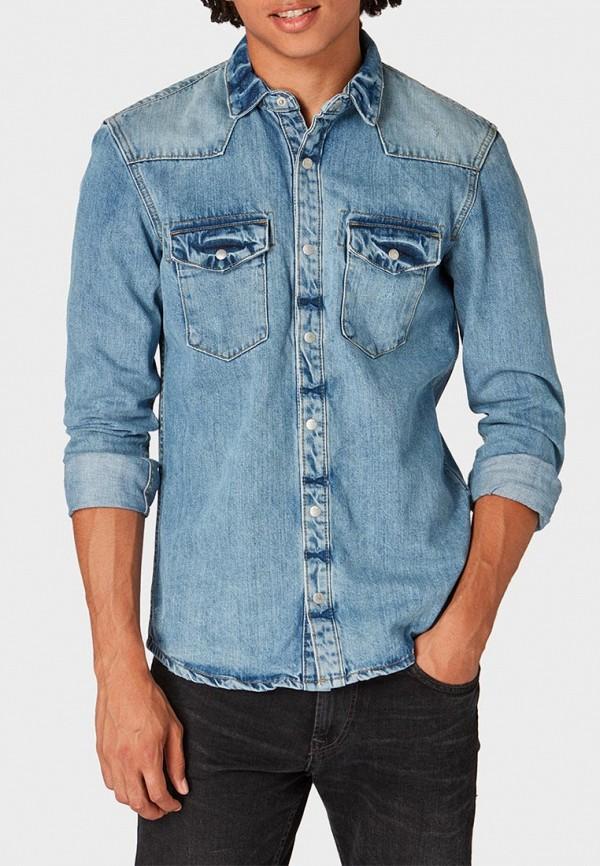 Купить Рубашка джинсовая Tom Tailor Denim, TO793EMCHJM6, голубой, Осень-зима 2018/2019