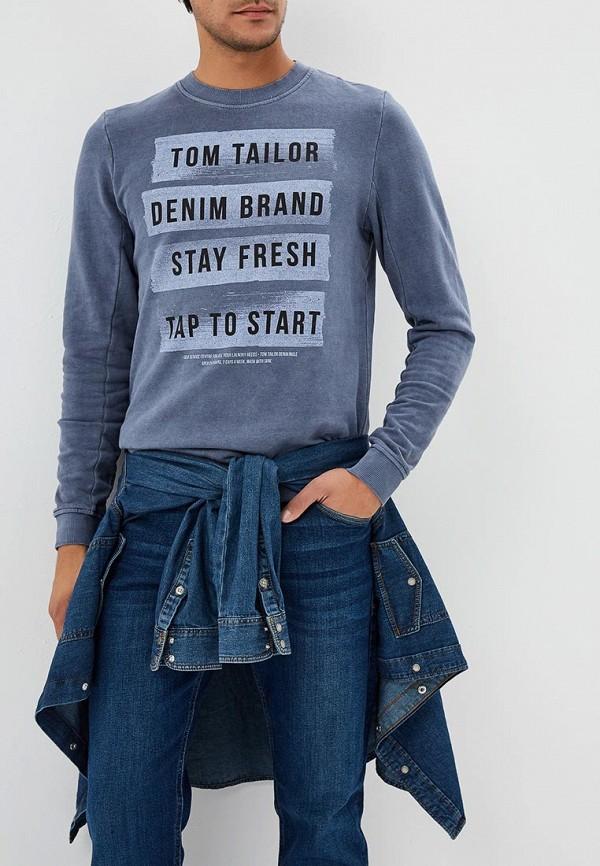 Купить Свитшот Tom Tailor Denim, TO793EMCHJP3, серый, Осень-зима 2018/2019