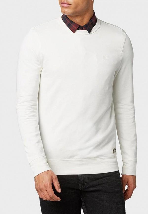 мужской свитшот tom tailor, белый