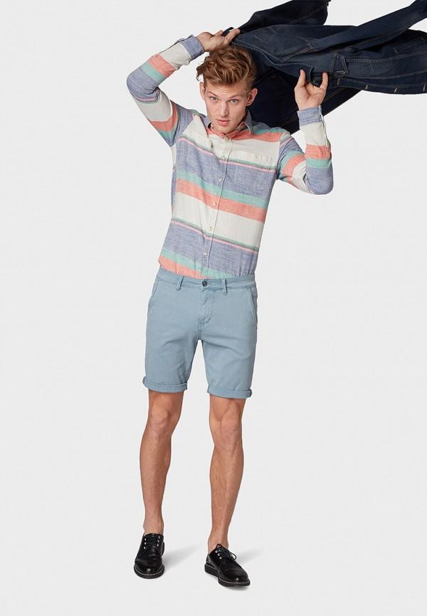 Фото 2 - мужские шорты Tom Tailor Denim голубого цвета