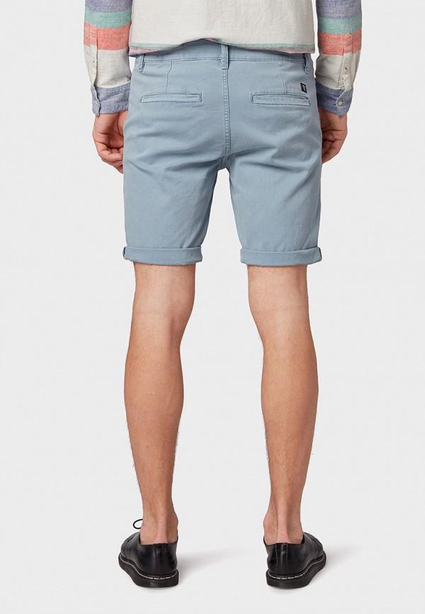 Фото 3 - мужские шорты Tom Tailor Denim голубого цвета