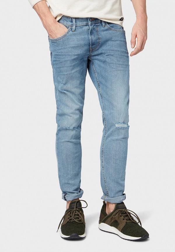 мужские зауженные джинсы tom tailor, голубые