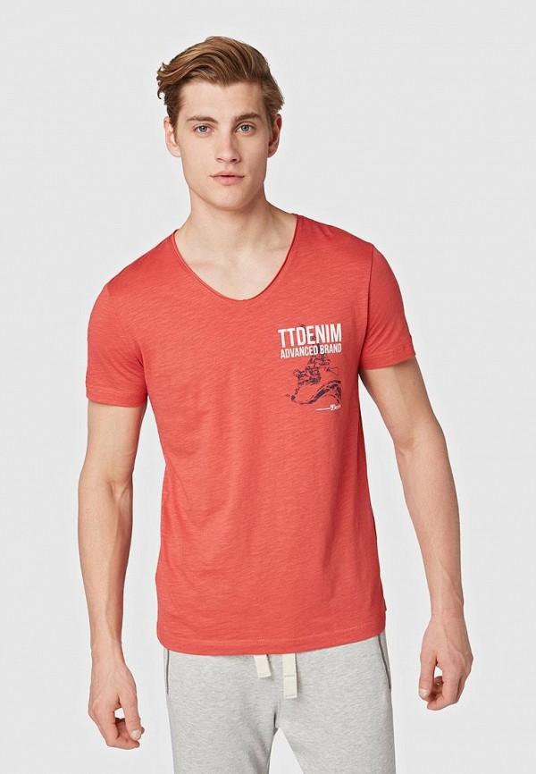купить Футболка Tom Tailor Denim Tom Tailor Denim TO793EMFJEM6 по цене 1100 рублей