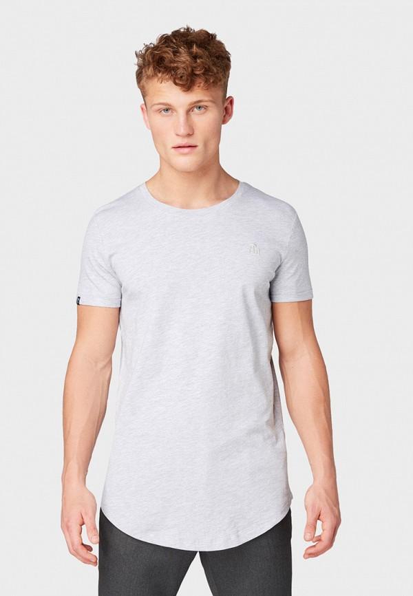 Фото - мужскую футболку Tom Tailor Denim серого цвета