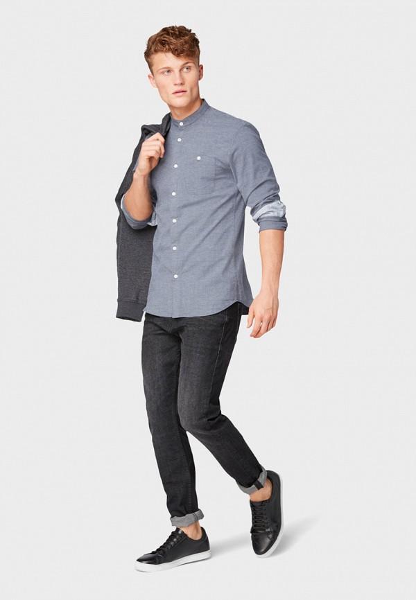 Фото 2 - Рубашку Tom Tailor Denim синего цвета