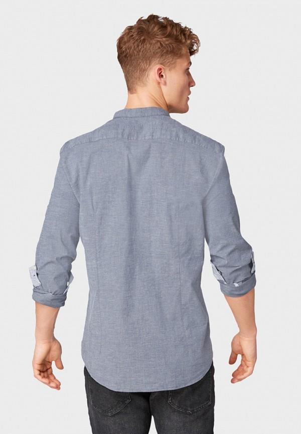 Фото 3 - Рубашку Tom Tailor Denim синего цвета
