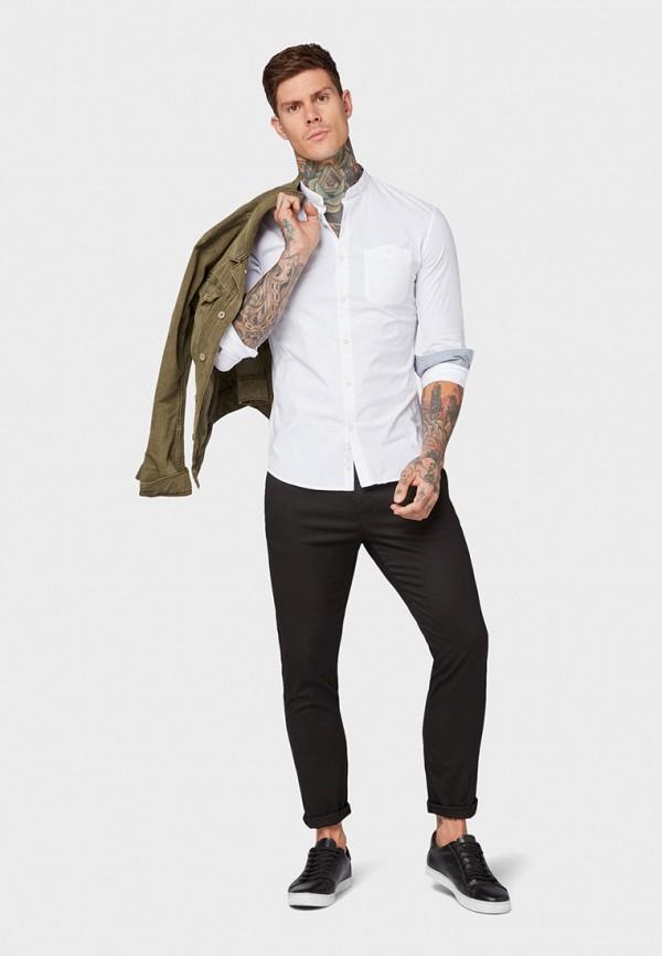 Фото 2 - мужскую рубашку Tom Tailor Denim белого цвета