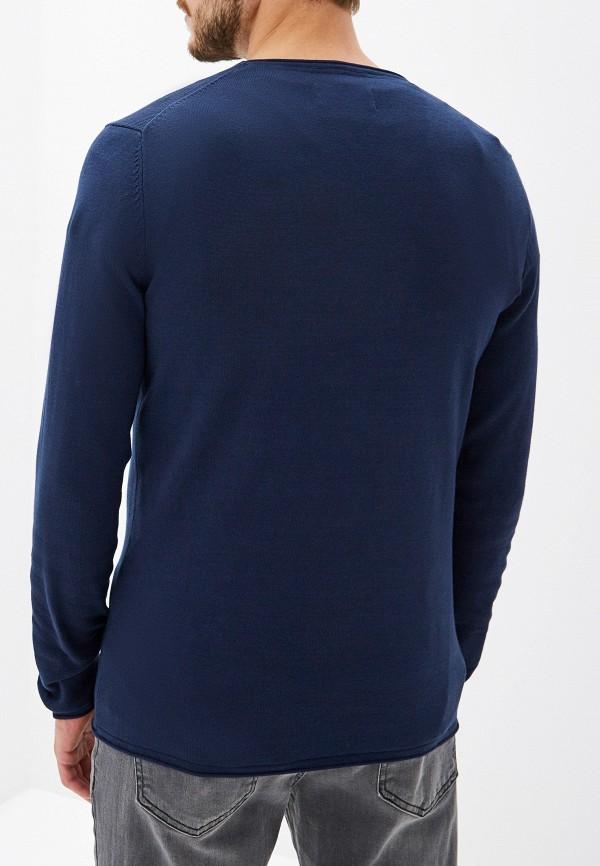 Фото 3 - мужское джемпер Tom Tailor Denim синего цвета